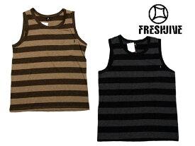 【freshjive フレッシュジャイブ】Melangie TANK TOP タンクトップ トップスインナー ストリート メンズ 3347ファッション 男性 ボーダー