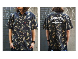 【Double Steal ダブルスティール】 DOUBLESTEAL 半袖シャツ 総柄 半袖 カットソー トップス メンズ 男性用 ファッション ストリート系 スト系 オーリー サムライ 743-35204