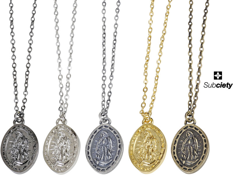 Subciety サブサエティー ネックレス アクセサリー チェーン 10154 103-94066 METAL NECKLACE -Guadalupe- メール便対応