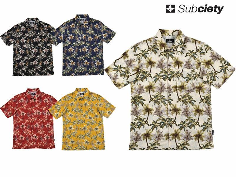 【Subciety サブサエティー】 アロハシャツ シャツ 半袖 カットソー アパレル アロハALOHA SHIRT S/S SBF4273 オーリー OLLIE サムライ SAMURAI