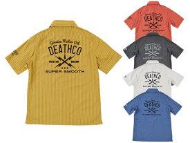Subciety サブサエティ 半袖シャツ ワークシャツ ボタンシャツ ストライプ SBF1442 STRIPE SHIRTS S/S -DETHCO- ストリート ファッション OLLIE SAMURAI オーリー サムライ