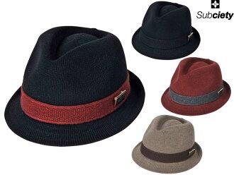 Subciety サブサエティパナマハットウォールハット hat CAP hat SBH6601 SBH2452 PANAMA HAT WOOL HAT street fashion OLLIE SAMURAI Oley samurai