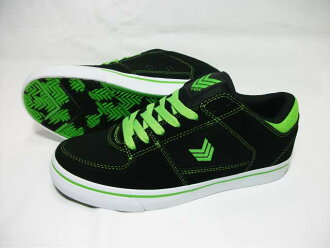 VOX / box / sneakers / shoes and skate shoes and skase / TROOPER / skating / mens / 26 cm/27 cm / black/black / green / green / Japan Rolex