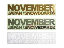 NOVEMBER ノベンバー ステッカー スノーボード