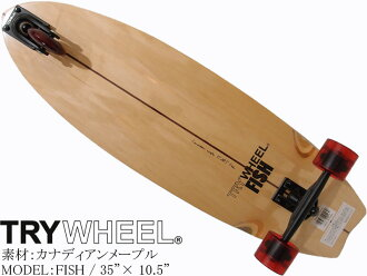 TRY WHEEL toraiuiru FISH鱼3轮滑板冲浪溜冰35英寸加拿大人枫冲浪陆地托盘SURF