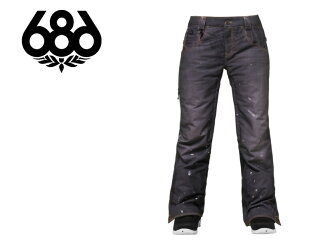 686 SIX EIGHT 2014-2015 L4WLTD15 55DSL CIGARETTE PANT, WOMEN's LIMITED Japan Rolex Snow were pants for women women's collaboration with denim jeans snowboard snowboard SNOWBOARD