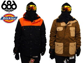 686 SIX EIGHT SIX SMARTY DICKIES ディッキーズ スノーウエア ジャケット Dickies Foundation Insulated Jacket 日本正規品 L4W121 スノーボード スノボー SNOWBOARD コラボ 送料無料
