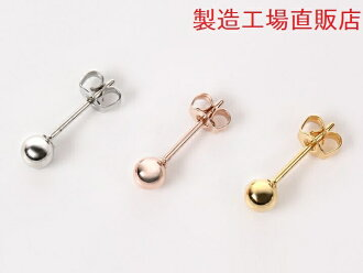 Allergic response piercing ball earrings manufacturing direct / 3 colors to choose from two sizes