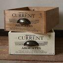 木箱 収納ボックス アンティーク 取っ手付き小 新聞ストッカーや収納ケース ガーデニング キッチン収納にも BREAブレア
