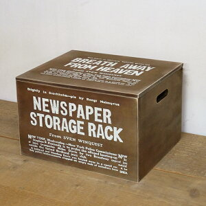 木箱 収納ボックス アンティーク ふた付き 雑誌や新聞ストッカー おもちゃ箱として フリーボックス BREAブレア
