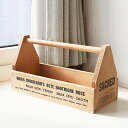 【BREA 木箱】ツールボックス ブラウン /アンティーク 収納ボックス 小物入れ おもちゃ箱/ブルックリン風