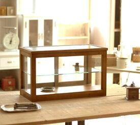 【BREA】木製 ガラスケース アンティーク /ショーケース/コレクションケース/日本製/男前/西海岸/ブルックリン