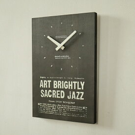 アンティーク 時計 ブラック 壁掛け 木製 男前 ブルックリン 日本製(セイコー) モノトーン インテリア雑貨 BREAブレア