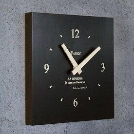 BREAブレア 壁掛け時計 日本製(セイコー)スクエア 壁掛け ブラック モノトーン インテリア雑貨 木製 男前