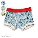 BOY'S_アニマルボーダーパンツ ▽▽ 男の子 BREEZE ブリーズ アンパサンド 子供服 キッズ ベビー 下着 パンツ ボクサ…