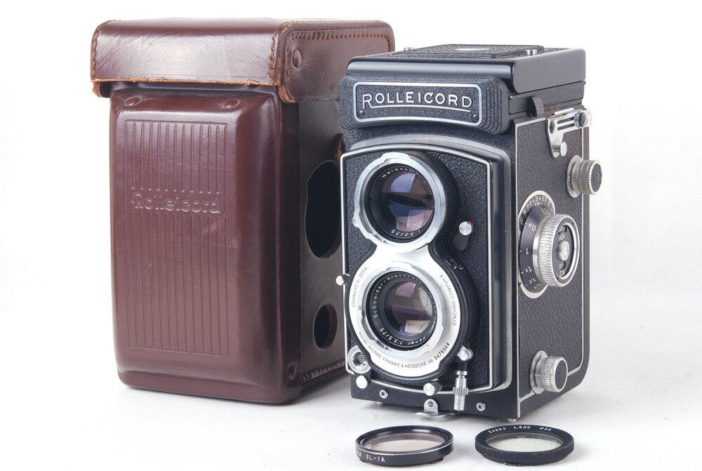 【美品】ローライ二眼レフカメラ/Rolleicord Vb type II Schneider Xenar 75/3.5レンズ付き ホワイト #jp20232