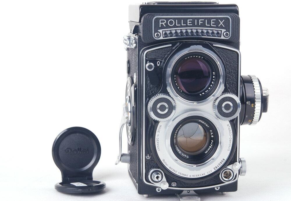 【コレクション美品】Rolleiflex/ローライ 3.5F ホワイト二眼レフカメラ Planar 75/3.5レンズ付き ゴールドコーディング#jp19883
