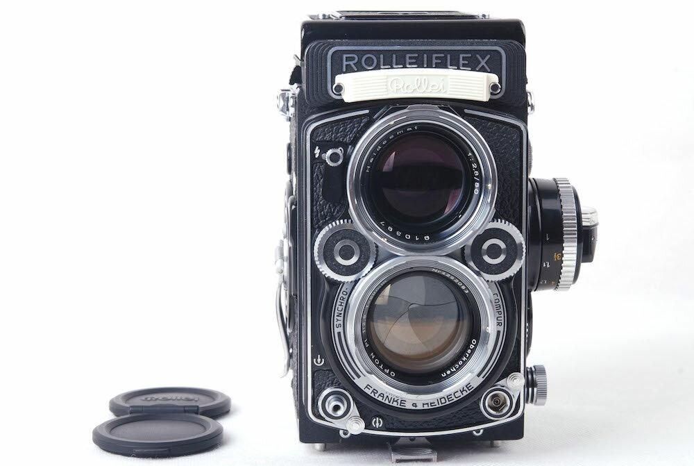 【美品】Rolleiflex/ローライ 2.8F opton PL 80/2.8(特別Planar) レンズ付き ブラック#jp20566