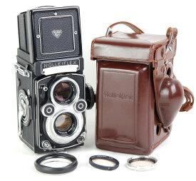 【美品】Rolleiflex/ローライ 3.5F 二眼レフカメラ ホワイト Planar 75mm F3.5レンズ付き ゴールドコーディング #jp22095