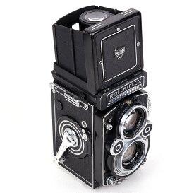 【美品】禄来/ローライ 3.5F 最後期 ブラック 283万号 二眼レフカメラ Planar 75/3.5レンズ付き#jp21867