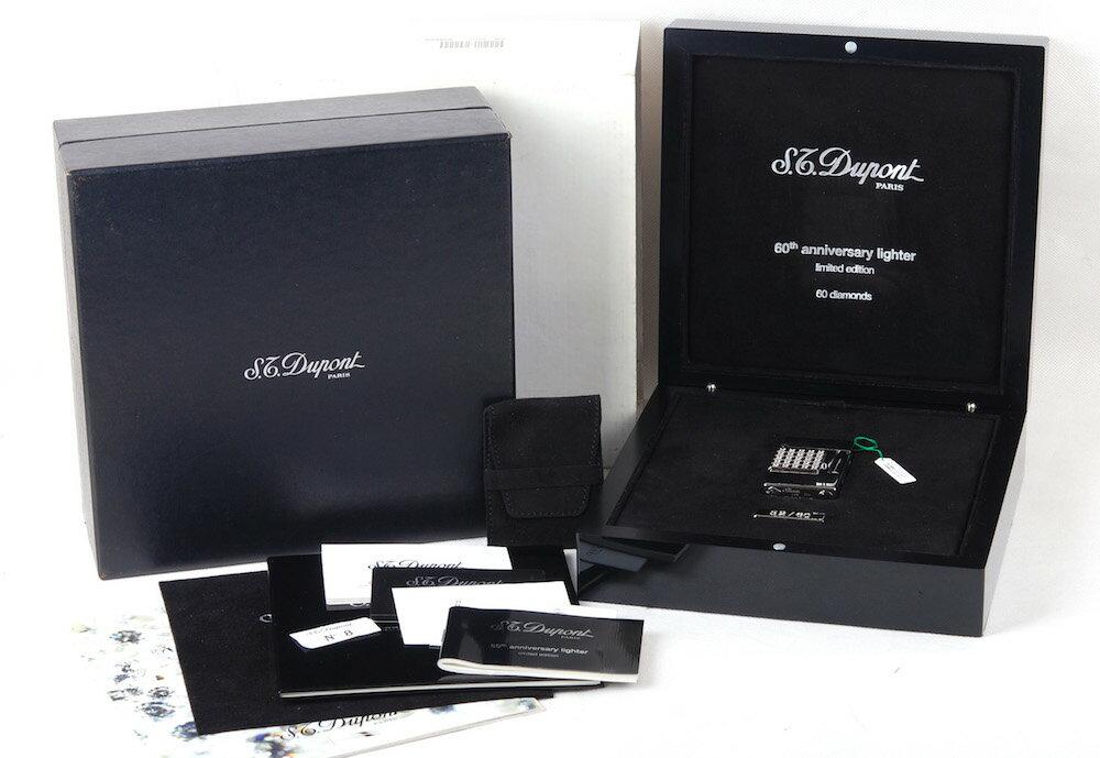 【60周年限定版】S.T.Dupont/デュポン 16660 60個ダイヤモンド象眼 プラチナライター#jp20807
