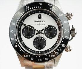 【新品】A BATHING APE/ア・ベイシング・エイプ Bapex T003シリーズ Rolex/ロレックス Daytona/デイトナ タイプ 40mm 自動巻き 腕時計#33987