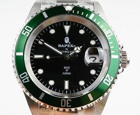 【新品】A BATHING APE/ア・ベイシング・エイプ Bapex T001シリーズ Rolex/ロレックス Submariner/サブマリーナー タイプ 40mm 自動巻き 腕時計#34002