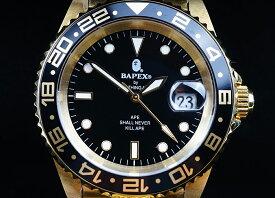 【新品】A BATHING APE/ア・ベイシング・エイプ Bapex T001シリーズ Rolex/ロレックス GMT タイプ 40mm 自動巻き 腕時計#33895