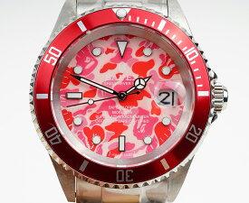 【新品】A BATHING APE/ア・ベイシング・エイプ Bapex T001シリーズ Rolex/ロレックス Submariner/サブマリーナー タイプ 40mm 自動巻き 腕時計#33687