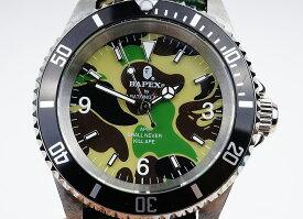 【新品】A BATHING APE/ア・ベイシング・エイプ Bapex T001シリーズ Rolex/ロレックス Submariner/サブマリーナー タイプ 40mm 自動巻き 腕時計#33793Y