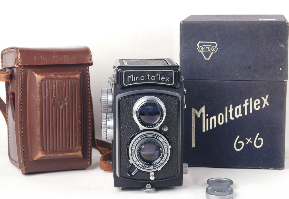 【コレクション】Minolta/ミノルタ Minoltaflex 6x6Rokkor 75/3.5レンズ付き 中判二眼レフカメラ#jp20237