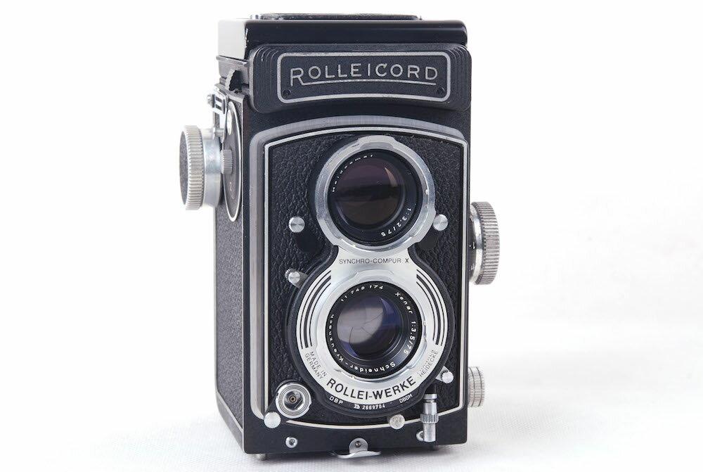 【美品】ローライ/Rolleicord Vb 最後期 ブラック Schneider Xenar 75/3.5レンズ付き二眼レフカメラ