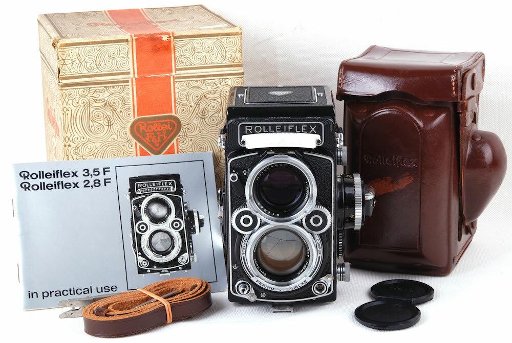 【美品】ROLLEIFLEX/ローライ 2.8F Planar 2.8F 元箱付き二眼レフカメラ#jp20939
