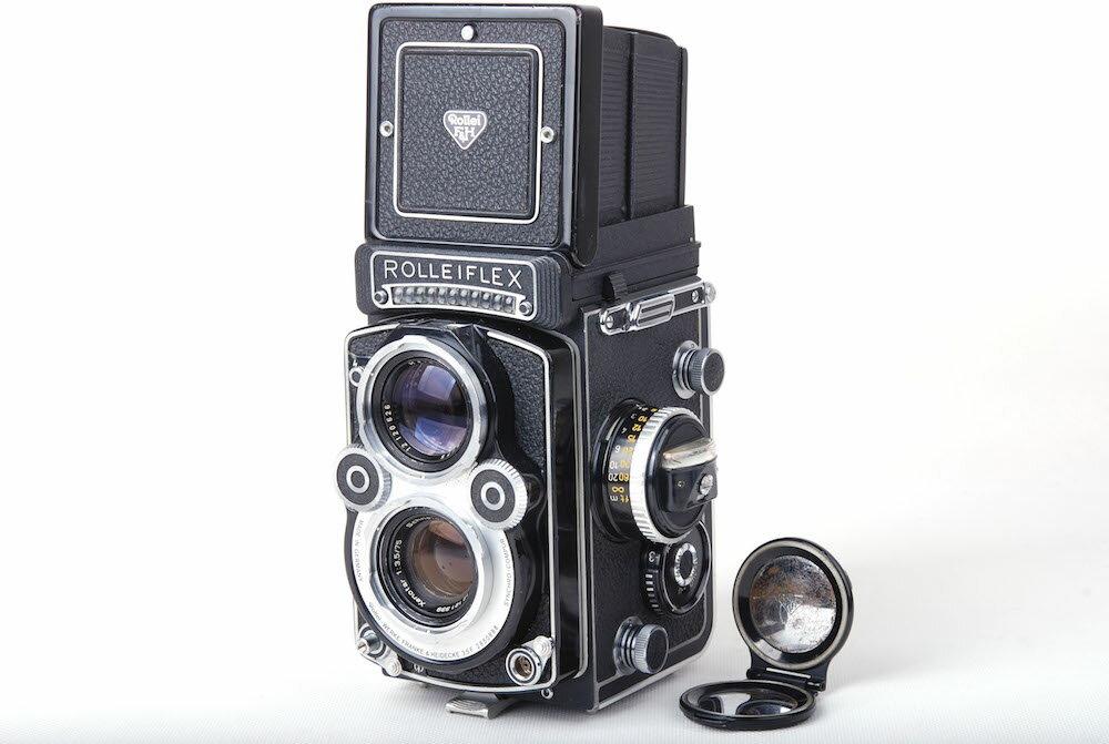 【美品】Rolleiflex/ローライ 3.5F ホワイト 二眼レフカメラ schneider Xenotar 75/3.5レンズ付き#jp21173