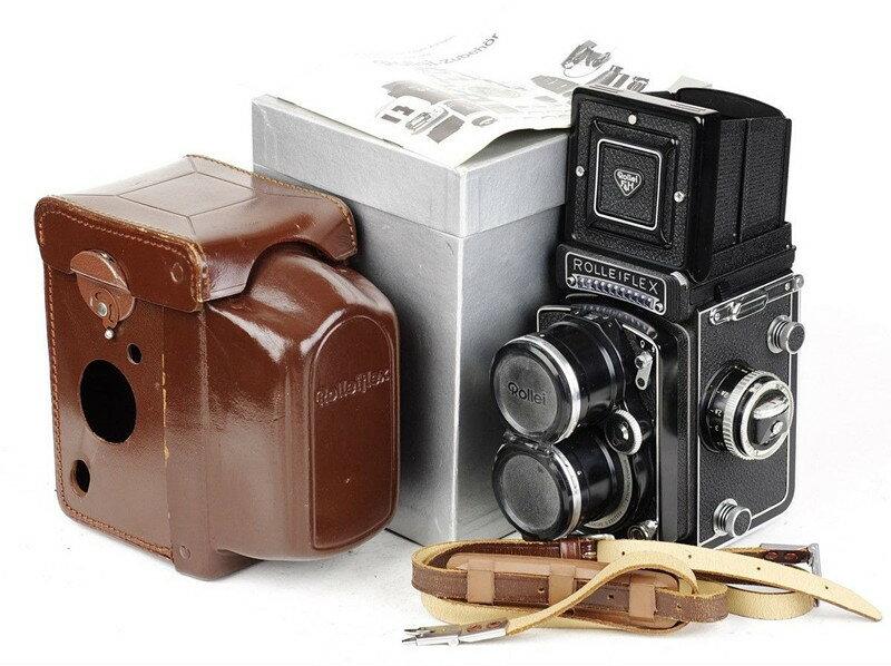 【コレクション美品】Rolleiflex/ローライ Tele (type 2) White Face ホワイト Zeiss Sonnar 135/4 二眼レフカメラ #HK8128