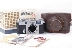 【美品】NIKON/ニコン S3 シルバー ボディー ケースと箱付き#jp20995