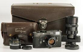 【コレクション】Leica/ライカ KE-7A + summicron 35/2 + elcan 50/2 + elmarit 135/2.8 outfit #HK8814