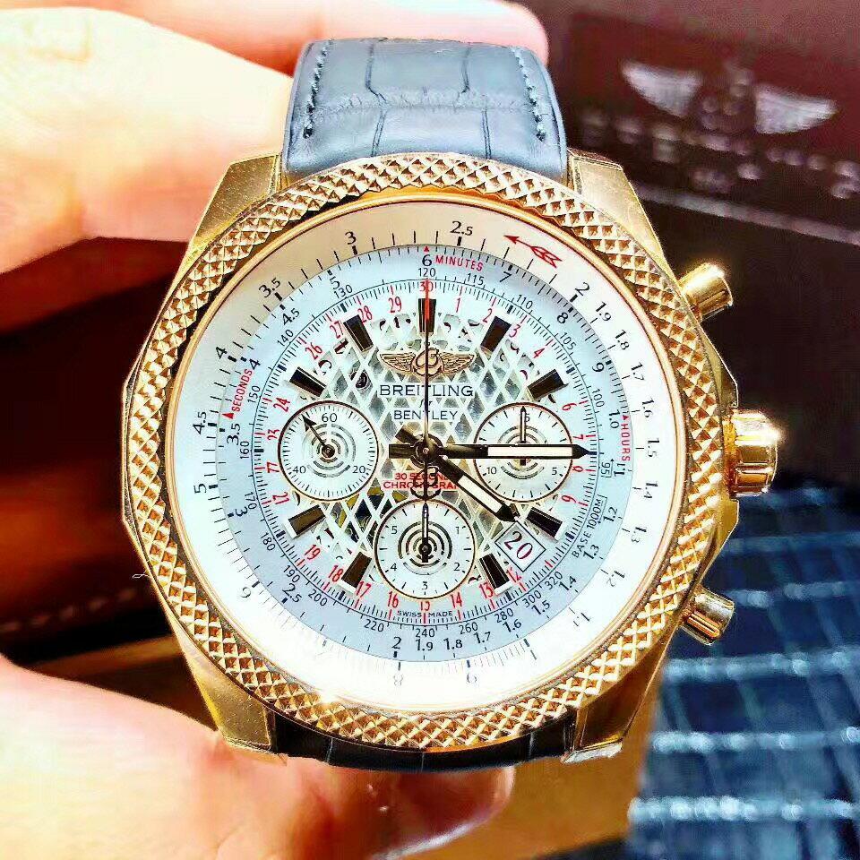 【新品】BREITLING/ブライトリング ベントレーシリーズ 18Kローズゴールド49mm白盘メンズ腕時計 RB061112/G769  #BL08