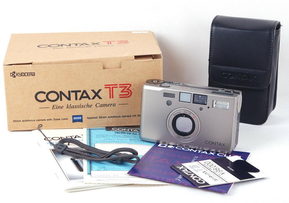 【新同品】【芸能人同款】Contax/コンタックス T3 シャンパン色 フルセット#jp21263