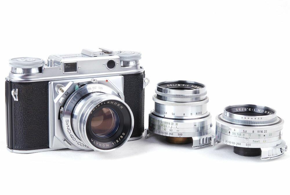 【特価美品】フォクトレンダー/Voigtlander プロミネント/Prominent +50/2+100/4.5+35/3.5 カメラとレンズセット#jp20989