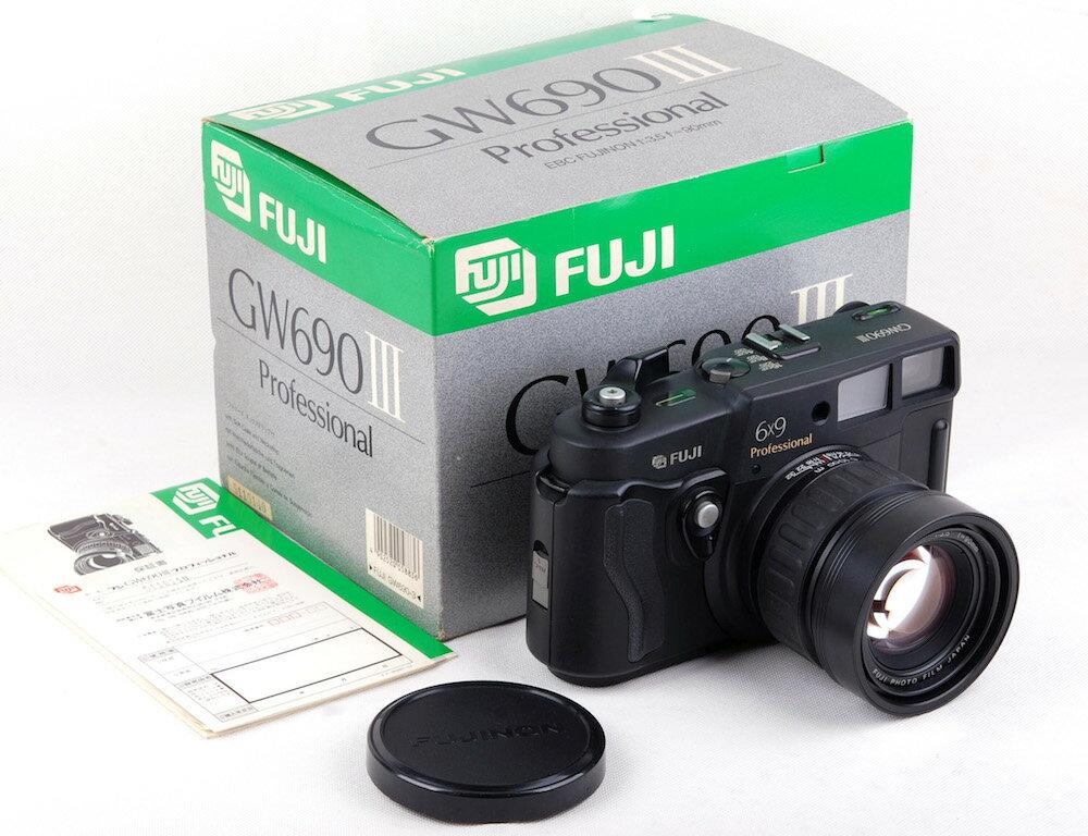 【美品】Fujifilm/富士フィルム GW690III 90mm F3.5レンズ付き6x9中判レンジファインダーカメラ 箱付き#jp21803