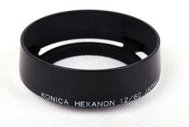 【美品】Konica/コニカ ブラック フード HEXANON 60/1.2 LTM限定専用#jp21791