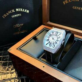 【新品】FRANCK MULLER/フランクミュラー V32 QZ D AC NR ホワイトスチール ブラック数字 ダイヤモンド腕時計 #FM0015