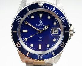 【新品】A BATHING APE/ア・ベイシング・エイプ Bapex T001シリーズ Rolex/ロレックス Submariner/サブマリーナー タイプ 40mm 自動巻き 腕時計#33880
