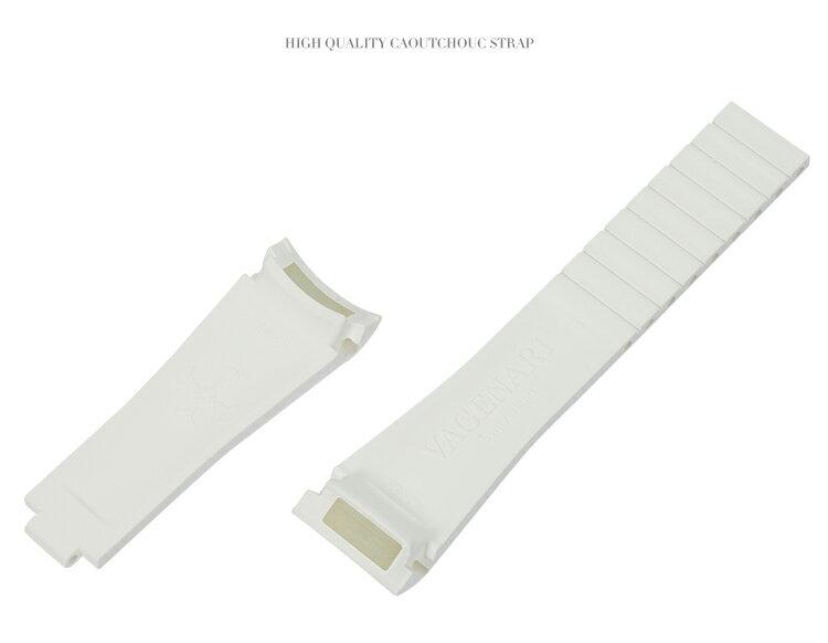 Rolex/ロレックス/ MasterII/マスターII GMT 116710、16710適用 VAGENARI ラバー ストラップ/ベルト ホワイト