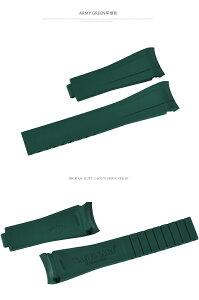 Rolex/ロレックス Milgauss/ミルガウス 116400GVに適用 Vagenari ラバー ストラップ/ベルト グリーン
