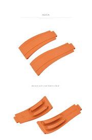 Rolex/ロレックス Daytona/デイトナ Yacht Master/ヨットマスター 116655.116515.116518.116519に適用VAGENARI ラバー ストラップ/ベルト オレンジ