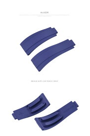 Rolex/ロレックス Daytona/デイトナ Yacht Master/ヨットマスター 116655.116515.116518.116519に適用VAGENARI ラバー ストラップ/ベルト ブルー