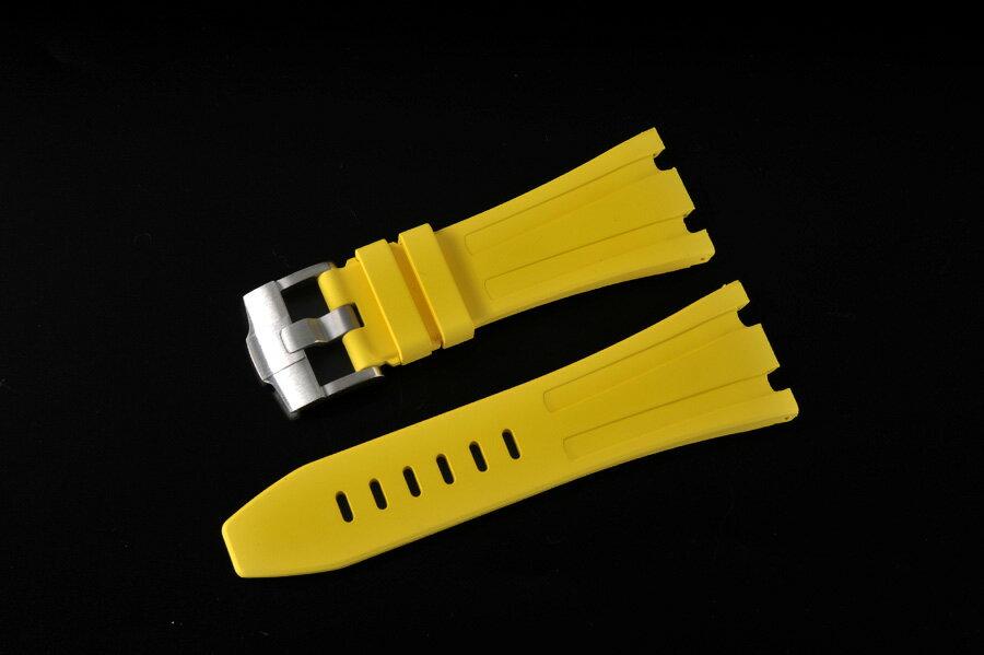 パネライ PAM ロレックス デイトナ 22MM用VAGENARIバイトンラバーストラップ バックル付 黄色い