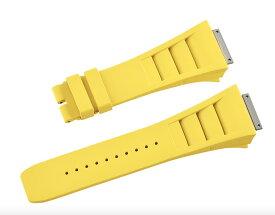 Richard Mille リシャール ミル RM011適用する Vagenari ラバー ウオッチ ストラップ 黄色 Yellow